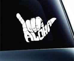 100 Mini Truck Stickers Buy Shaka Aloha Hand Hawaii Symbol Decal Funny Car Sticker