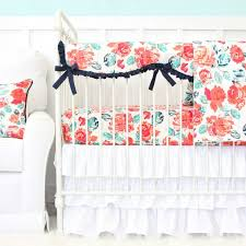 Coral And Mint Baby Bedding by Nursery Beddings Navy Coral And Mint Baby Bedding Together With