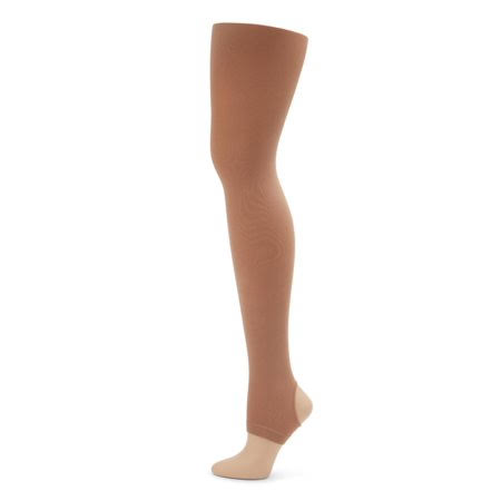 Capezio Self Knit Waist Stirrup Tight - Light Suntan