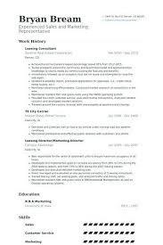 Leasing Consultant Resume Example Manager If You Are Interested In Making Can Read Ou