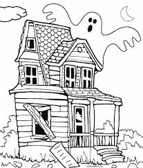 Haunted House Printable Coloring Pages