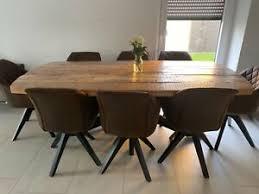 esstisch mangoholz massiv freiform naturfarben 8 stühle ebay