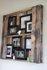 DIY Pallet Wall Shelves Picture Frame Display Rack