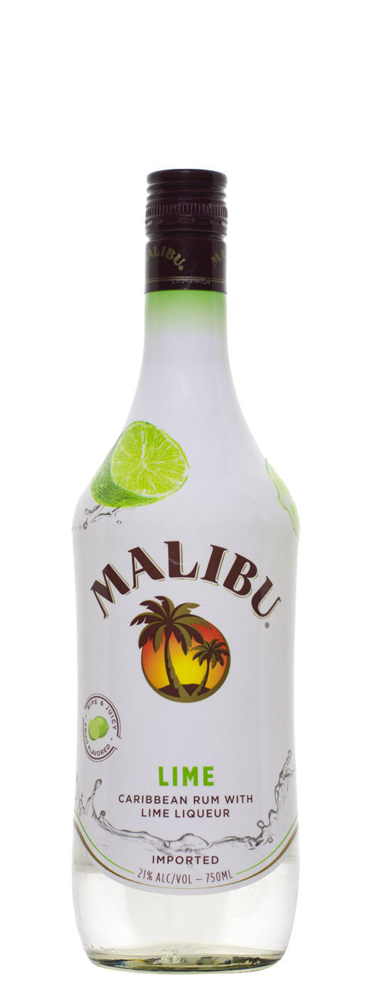 Malibu Caribbean Rum, With Lime Liqueur - 750 ml