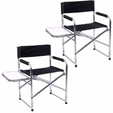 2PC Aluminum Folding Director's Chair With Side Table ...