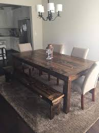 Rustic Dining Room Ideas Pinterest by Best 25 Rustic Dining Benches Ideas On Pinterest Farm Table