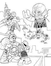 Coloring Page Lego Marvel Avengers Age Of Ultron