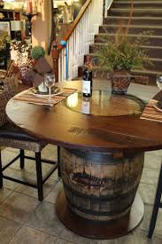 whisky barrel table beautifully handcrafted