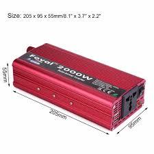100 Power Inverters For Trucks FOVAL Inverter Car Inverter DC 12V To AC 220V 2000W Vehicle
