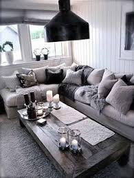 Totally Swooning Over This Cozy Chic Living Room The Different Shades Of Grey Against A Light Couch Brings Modern Twist To Your Home Decor