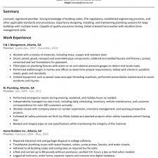 Download Free Plumber Resume Sample Resumelift For Plumbers Job Of Master