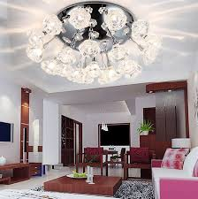 slanted ceiling lighting living room contemporary with floral