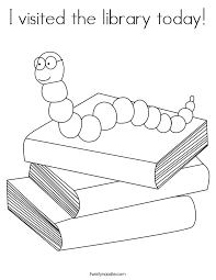 I Visited The Library Today Coloring Page