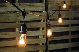 Outdoor Light String mercial Drop String Lights Foot Black Wire