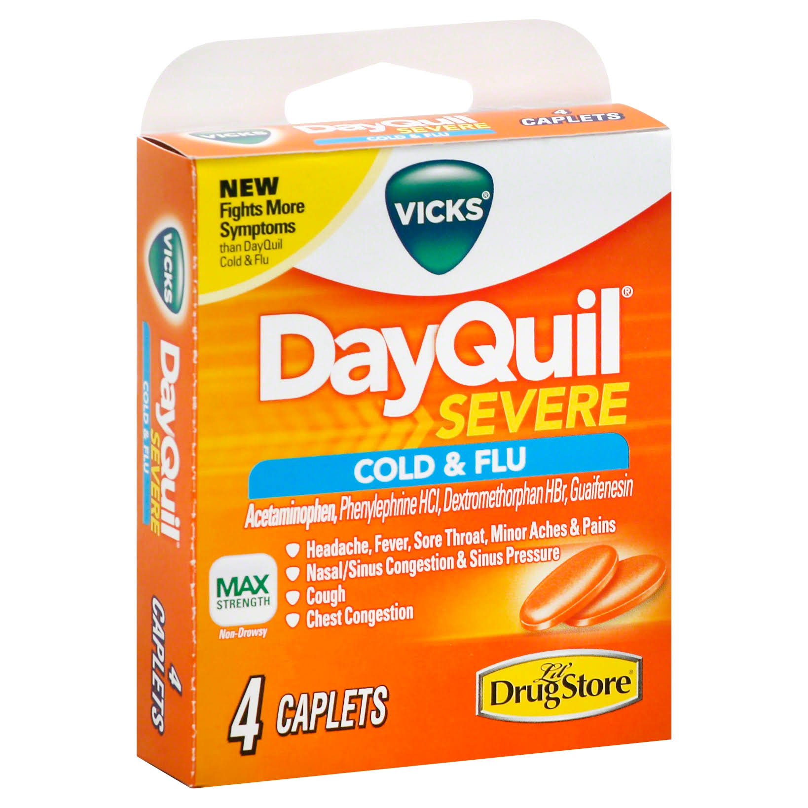Vicks Day Quil Severe Cold and Flu - 4ct