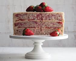 Natural Strawberry Cake with Browned Butter Frosting