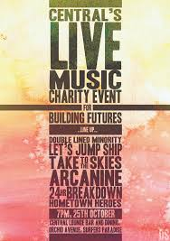 Centrals LIVE MUSIC Charity Event Poster Design By Symons Photography