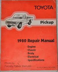 1980 Toyota Pickup Truck Factory Shop Service Repair Manual ...