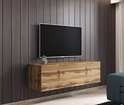 wotan eiche tv board hängend wohnwand hängeschrank