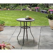 Mainstays Patio Heater Wont Stay Lit by Mainstays Heritage Park Round Bistro Table Brown Walmart Com
