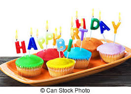 colorful happy birthday cupcakes with candles colorful happy birthday cupcakes with candles on white background
