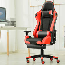 Reclining Gaming Chair With Footrest by Jl Footrest Gaming Chair Office Executive Recliner Racing