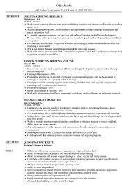 Direct Marketing Resume Samples Velvet Jobs 2015 S