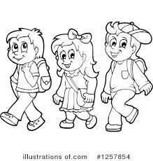 Children In Line Clipart clipartsgram