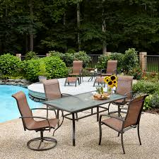Patio Furniture Covers Sears by Essential Garden Harley Brown Outdoor Dining Set Kmart