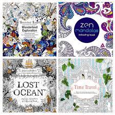 Newest 24 Pages Adult Coloring Books Relieve Stress Lost Ocean Zen Mandalas Time Travel Wonderland Exploration Book