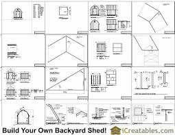 12x16 Gambrel Shed Kits by 8x8 Gambrel Shed Plans Icreatables