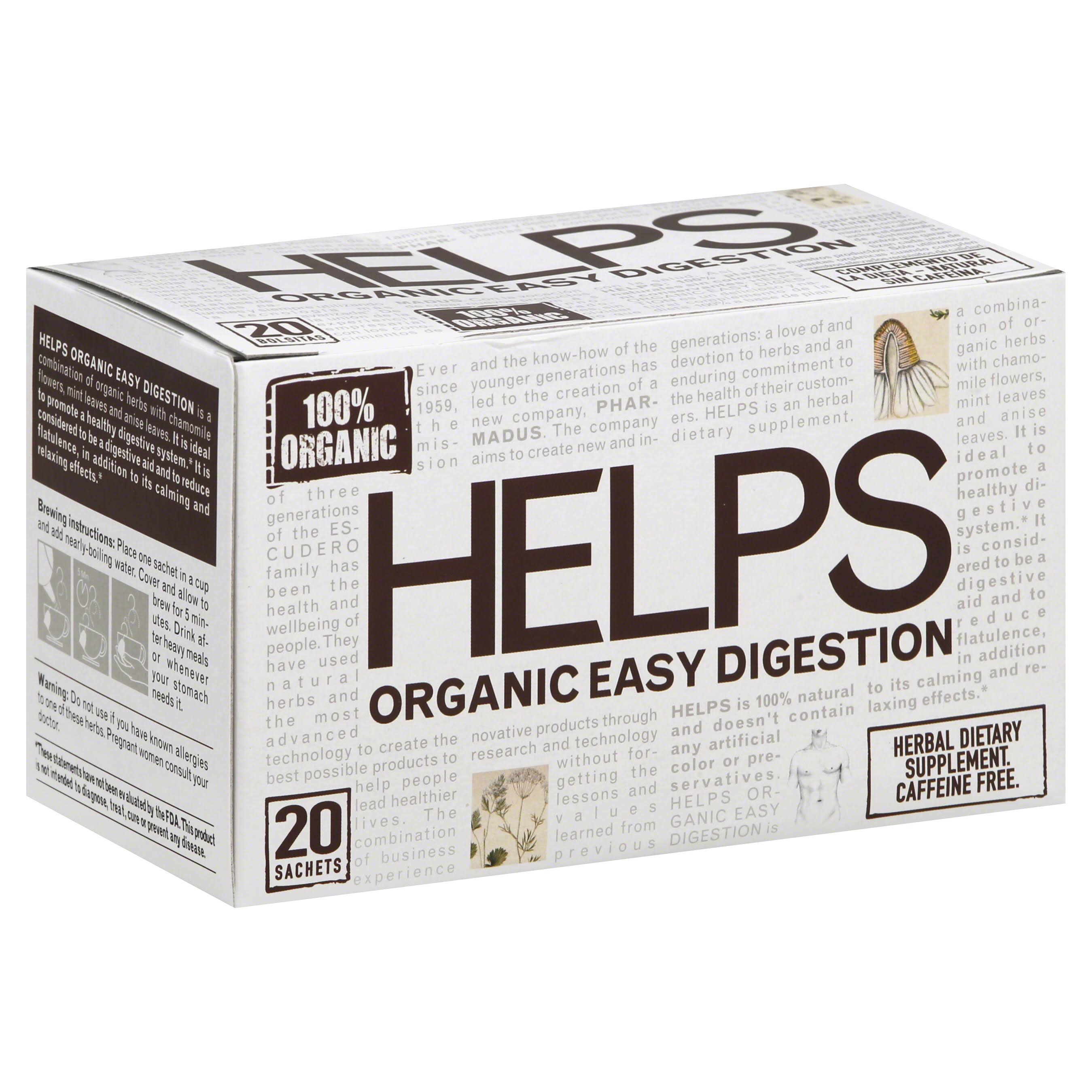 Helps Organic Easy Digestion Tea - 20 Sachets
