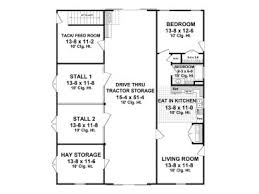 barn plans horse barn plan with living quarters 001b 0001 at