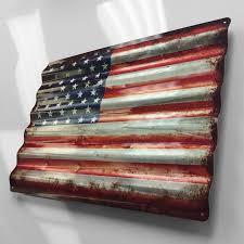 Sign 24 Rustic American Flag Corrugated Metal