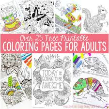 Free Coloring Page For Pages Adults Easy Peasy And