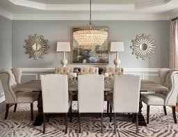Transitional Home Dining Room On Tables