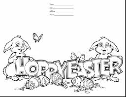 Brilliant Printable Easter Coloring Pages With Happy And Words
