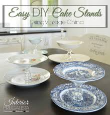 DIY Cake Stands 4 Easy To Make Styles Using Vintage China
