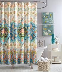 Jessica Simpson Aquarius Floral Medallion Shower Curtain
