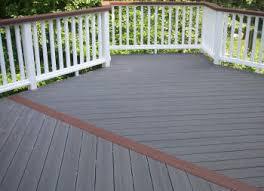 2 tone deck staining ideas ct connecticut composite decking