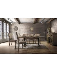 Birmingham 7 Piece Driftwood Brown Finish Table With Nail Head Chairs Dining Set