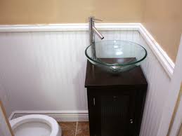 Small Half Bathroom Ideas Photo Gallery by Wainscoting And Tiling A Half Bath Hgtv