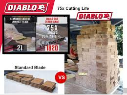 Cut Laminate Flooring With Miter Saw by Freud And Diablo Blades Cuts Laminate Circle Saw