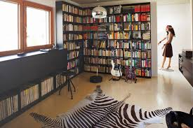 So What Do You Think About Home Music Room With Zebra Rug And CD Collection Above Its Amazing Right Just Know That Photo Is Only One Of 17
