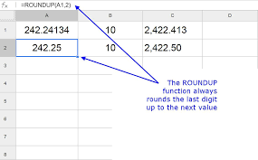 Ceiling Floor Function Excel by Round Numbers Up In Google Spreadsheets With The Roundup Function