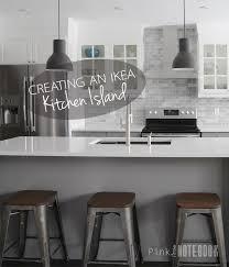 Creating an IKEA Kitchen Island Pink Little NotebookPink Little