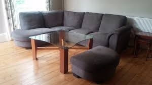 ikea tidafors 5 seater sofa couch settee plus large footstool in