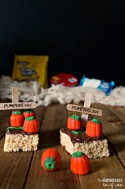 Pumpkin Patches In Charlotte Nc by Pumpkin Patch Rice Krispies Treats