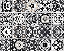 stickers cuisine carrelage carreaux noir et blanc stickers carrelage autocollants cuisine