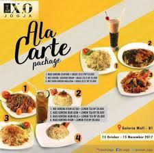 cuisine en promo ala carte package promo from x o suki cuisine at galeria mall